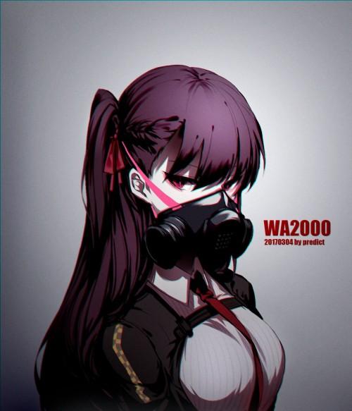 二次 非エロ 萌え フェチ ガスマスク 銃 武装少女 花粉 二次非エロ画像 gasmask2018041234