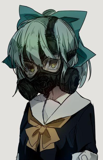 二次 非エロ 萌え フェチ ガスマスク 銃 武装少女 花粉 二次非エロ画像 gasmask2018041235