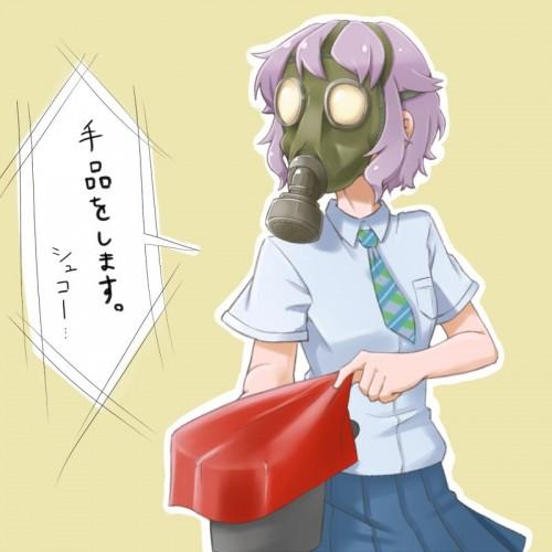 二次 非エロ 萌え フェチ ガスマスク 銃 武装少女 花粉 二次非エロ画像 gasmask2018041243