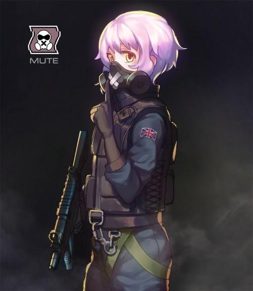二次 非エロ 萌え フェチ ガスマスク 銃 武装少女 花粉 二次非エロ画像 gasmask2018041244