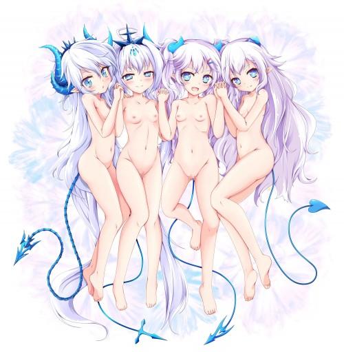 二次 エロ フェチ ハーレム セックス 複数プレイ 3P 4P ダブルフェラ トリプルフェラ ダブルパイズリ 乱交 お尻突き出し 誘惑 乳寄せ 二次エロ画像 harem2018040326