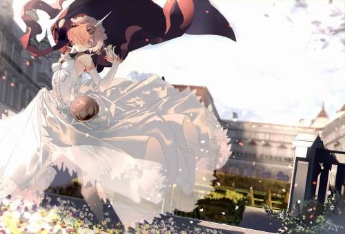 二次 エロ 萌え フェチ ウェディングドレス ビスチェ ガーターベルト 純白 白無垢 ヴェール 花嫁 虹嫁 二次嫁 ロンググローブ 手袋 二次エロ画像 hanayome10020180601023