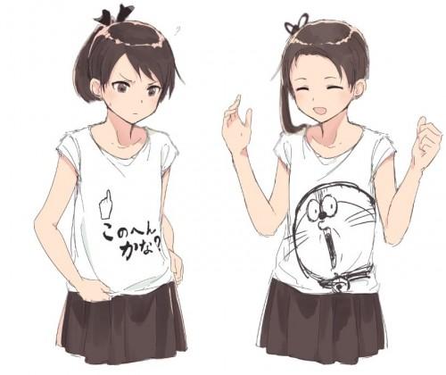 二次 非エロ 萌え クソT・ダサT Tシャツ 文字入り服 二次非エロ画像 kusotshirt10020180524005