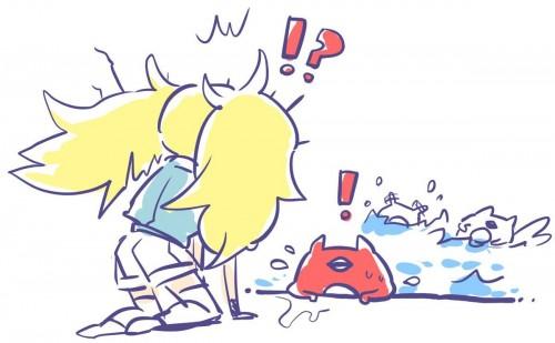 二次 非エロ 萌え ゲーム 艦隊これくしょん 艦これ 深海棲艦 深海浮き輪 護衛棲水姫 ガンビア・ベイ 二次非エロ画像 shinkaiukiwakancolle2018052945