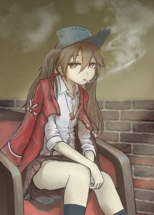二次 非エロ 萌え フェチ タバコ 煙草 煙管 シガー シガレット 葉巻 二次微エロ画像 tabako10020180531056