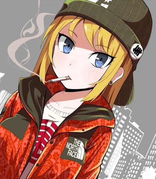 二次 非エロ 萌え フェチ タバコ 煙草 煙管 シガー シガレット 葉巻 二次微エロ画像 tabako10020180531061
