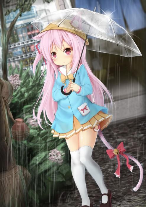 二次 微エロ 萌え フェチ 美少女風景 傘 夏 梅雨 紫陽花 花 日傘 和傘 濡れてる 透けてる 二次微エロ画像 umbrella10020180621004