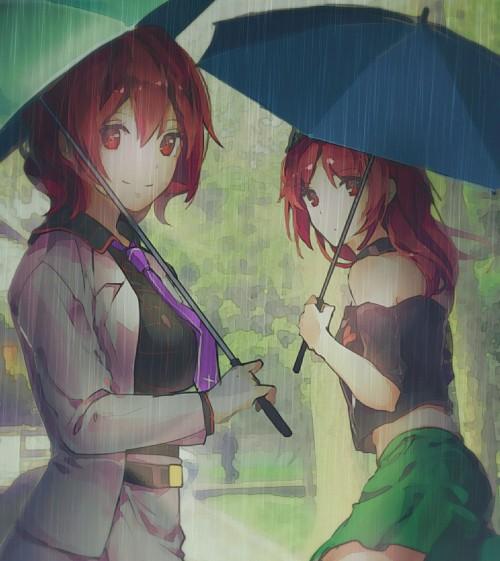 二次 微エロ 萌え フェチ 美少女風景 傘 夏 梅雨 紫陽花 花 日傘 和傘 濡れてる 透けてる 二次微エロ画像 umbrella10020180621019