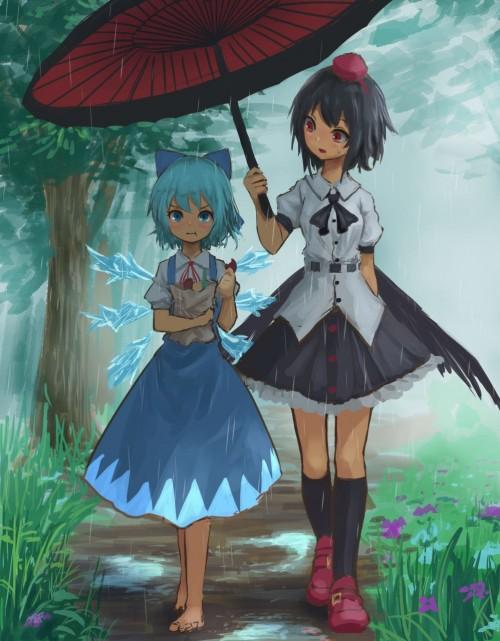 二次 微エロ 萌え フェチ 美少女風景 傘 夏 梅雨 紫陽花 花 日傘 和傘 濡れてる 透けてる 二次微エロ画像 umbrella10020180621028
