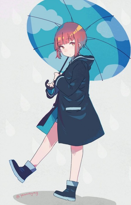 二次 微エロ 萌え フェチ 美少女風景 傘 夏 梅雨 紫陽花 花 日傘 和傘 濡れてる 透けてる 二次微エロ画像 umbrella10020180621030