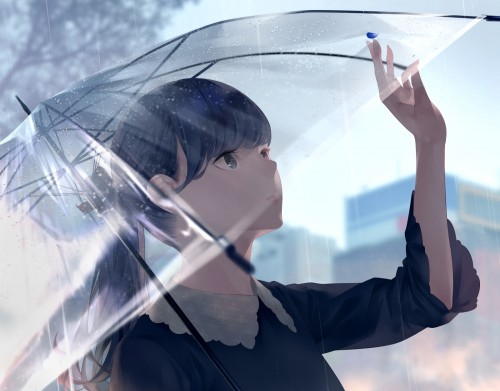 二次 微エロ 萌え フェチ 美少女風景 傘 夏 梅雨 紫陽花 花 日傘 和傘 濡れてる 透けてる 二次微エロ画像 umbrella10020180621043