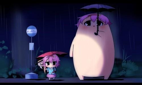 二次 微エロ 萌え フェチ 美少女風景 傘 夏 梅雨 紫陽花 花 日傘 和傘 濡れてる 透けてる 二次微エロ画像 umbrella10020180621057