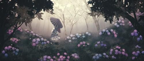 二次 微エロ 萌え フェチ 美少女風景 傘 夏 梅雨 紫陽花 花 日傘 和傘 濡れてる 透けてる 二次微エロ画像 umbrella10020180621094