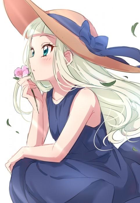 二次 非エロ 萌え フェチ ワンピース服 白ワンピ サンドレス スリーブレスドレス 透けてる サマードレス 帽子 麦わら帽子 二次微エロ画像 onepiecehuku10020180705006