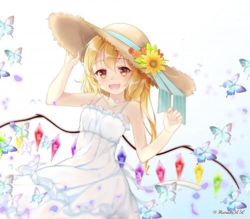 二次 非エロ 萌え フェチ ワンピース服 白ワンピ サンドレス スリーブレスドレス 透けてる サマードレス 帽子 麦わら帽子 二次微エロ画像 onepiecehuku10020180705043
