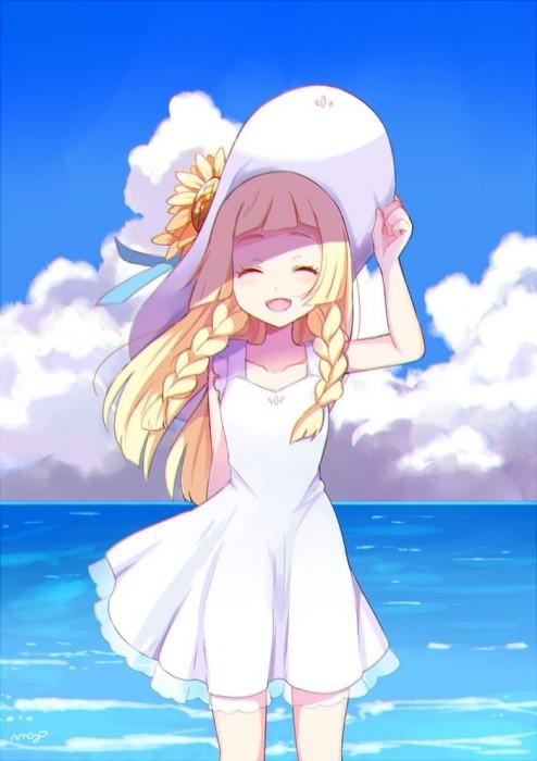 二次 非エロ 萌え フェチ ワンピース服 白ワンピ サンドレス スリーブレスドレス 透けてる サマードレス 帽子 麦わら帽子 二次微エロ画像 onepiecehuku10020180705055