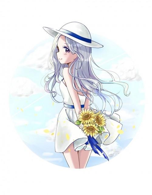 二次 非エロ 萌え フェチ ワンピース服 白ワンピ サンドレス スリーブレスドレス 透けてる サマードレス 帽子 麦わら帽子 二次微エロ画像 onepiecehuku10020180705097