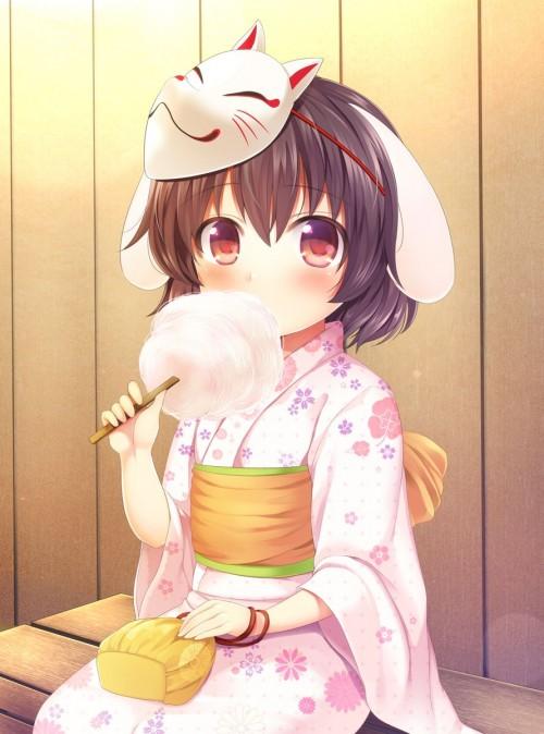 二次 萌え エロ フェチ 和服 着物 浴衣 はだけた 花火 脱衣 季節 夏 お祭り 二次エロ画像 yukata10020180726015