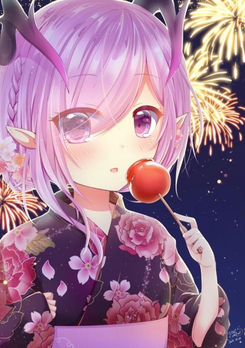 二次 萌え エロ フェチ 和服 着物 浴衣 はだけた 花火 脱衣 季節 夏 お祭り 二次エロ画像 yukata10020180726018