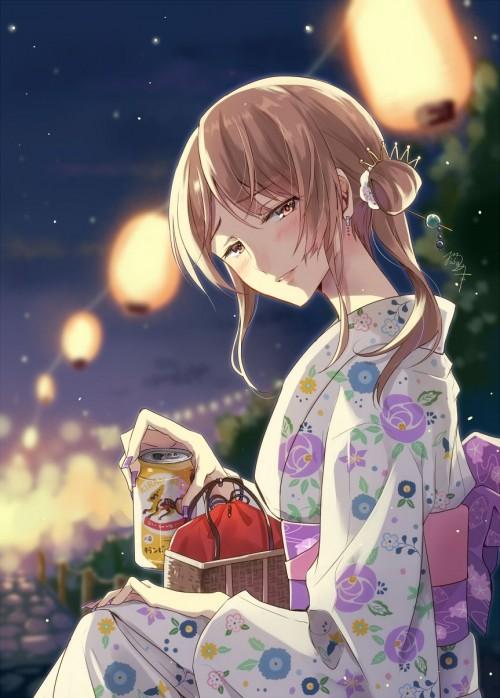 二次 萌え エロ フェチ 和服 着物 浴衣 はだけた 花火 脱衣 季節 夏 お祭り 二次エロ画像 yukata10020180726065