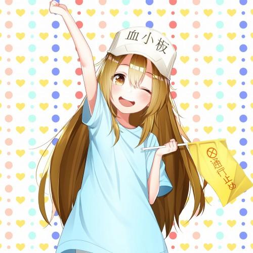 二次 エロ 萌え フェチ 漫画 アニメ はたらく細胞 擬人化 血小板 Tシャツ 短パン・ショートパンツ・ホットパンツ 帽子 ロリ 貧乳 茶髪 旗 通行止め まったく、血小板は最高だぜ!! 幼女 二次エロ画像 kesshouban10020180804032