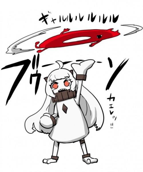 二次 非エロ 萌え ゲーム 艦隊これくしょん 艦これ 深海棲艦 深海浮き輪 護衛棲水姫 ガンビア・ベイ 二次非エロ画像 shinkaiukiwa10020180823008