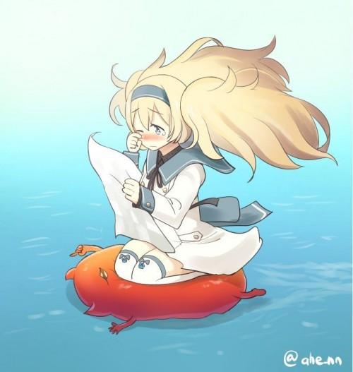 二次 非エロ 萌え ゲーム 艦隊これくしょん 艦これ 深海棲艦 深海浮き輪 護衛棲水姫 ガンビア・ベイ 二次非エロ画像 shinkaiukiwa10020180823009