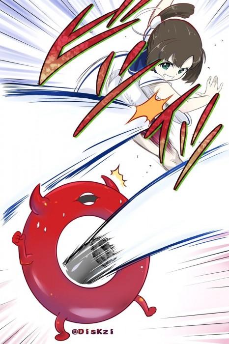 二次 非エロ 萌え ゲーム 艦隊これくしょん 艦これ 深海棲艦 深海浮き輪 護衛棲水姫 ガンビア・ベイ 二次非エロ画像 shinkaiukiwa10020180823026