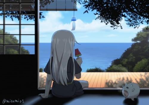 二次 非エロ 萌え ゲーム 艦隊これくしょん 艦これ 深海棲艦 深海浮き輪 護衛棲水姫 ガンビア・ベイ 二次非エロ画像 shinkaiukiwa10020180823056