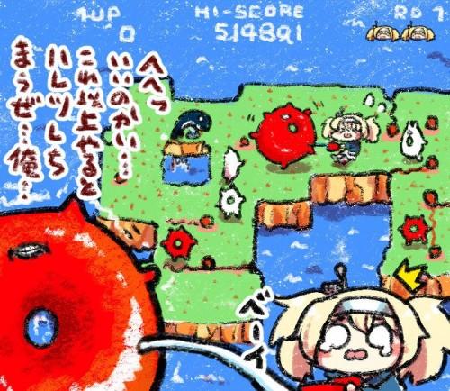 二次 非エロ 萌え ゲーム 艦隊これくしょん 艦これ 深海棲艦 深海浮き輪 護衛棲水姫 ガンビア・ベイ 二次非エロ画像 shinkaiukiwa10020180823060