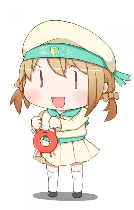 二次 非エロ 萌え ゲーム 艦隊これくしょん 艦これ 深海棲艦 深海浮き輪 護衛棲水姫 ガンビア・ベイ 二次非エロ画像 shinkaiukiwa10020180823068