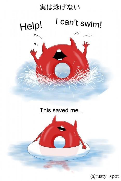 二次 非エロ 萌え ゲーム 艦隊これくしょん 艦これ 深海棲艦 深海浮き輪 護衛棲水姫 ガンビア・ベイ 二次非エロ画像 shinkaiukiwa10020180823071
