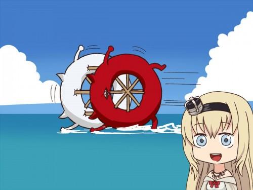 二次 非エロ 萌え ゲーム 艦隊これくしょん 艦これ 深海棲艦 深海浮き輪 護衛棲水姫 ガンビア・ベイ 二次非エロ画像 shinkaiukiwa10020180823073
