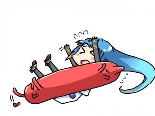 二次 非エロ 萌え ゲーム 艦隊これくしょん 艦これ 深海棲艦 深海浮き輪 護衛棲水姫 ガンビア・ベイ 二次非エロ画像 shinkaiukiwa10020180823080