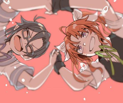 二次 エロ 萌え ゲーム 艦隊これくしょん 擬人化 艦娘 艦これ 陽炎 ツインテール 茶髪 スパッツ 手袋 アホ毛 ブレザーベスト リボン 明るく楽天的に気さくで少しお調子者 二次エロ画像