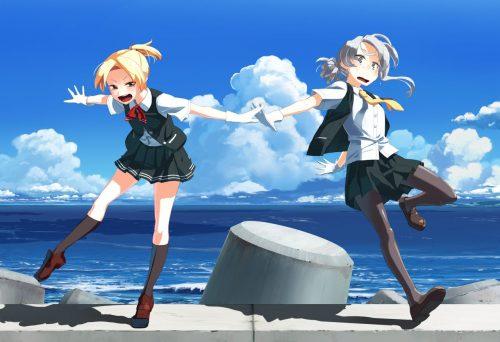 二次 エロ 萌え フェチ 艦隊これくしょん 擬人化 陽炎型駆逐艦 野分 銀髪・白髪 ネクタイ ストッキング・タイツ 舞風 男装の麗人 手袋 ちっぱいのついたイケメン 二次エロ画像