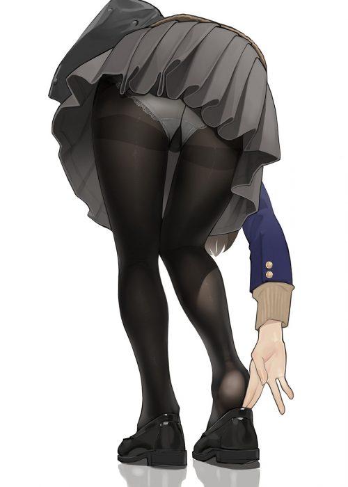 二次 エロ 萌え フェチ パンチラ 太もも 脚 パンツ 下着 ラッキースケベ ハプニング アクシデント 風のいたずら 神風 しゃがみパンチラ ローアングル スカート スカートがめくれて 転倒 転ぶ はみパン 二次エロ画像