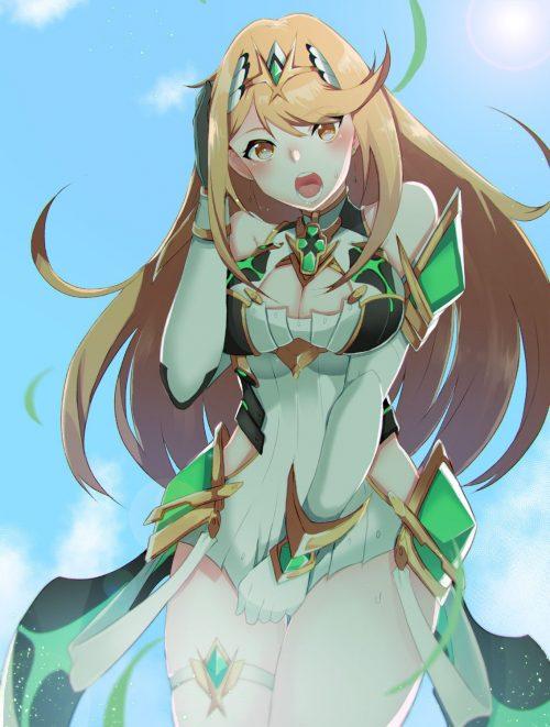 二次 エロ 萌え ゲーム ヒカリ ゼノブレイド2 金髪 巨乳 ティアラ メシマズ 二次エロ画像