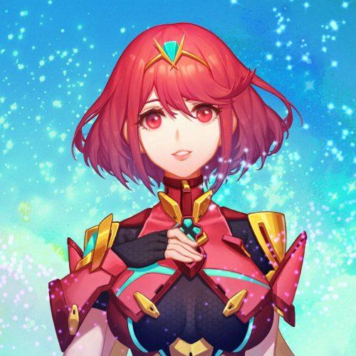 二次 エロ 萌え ゲーム ホムラ ゼノブレイド2 競泳水着 ティアラ 赤髪 短パン ホットパンツ ボディスーツ 二次エロ画像