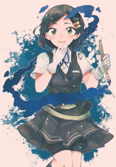 二次 エロ 萌え ゲーム 艦隊これくしょん 艦これ 擬人化 ショートカット・短髪 スパッツ 黒髪 黒潮 関西弁 陽炎型駆逐艦 幼馴染 同級生 手袋 ヘアピン 二次エロ画像
