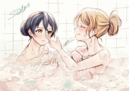 二次 エロ セックス 全裸 温泉 萌え お風呂 混浴 シャワー 裸タオル 濡れてる バスタオル ピンナップ 仕事する湯気 光線 二次エロ画像