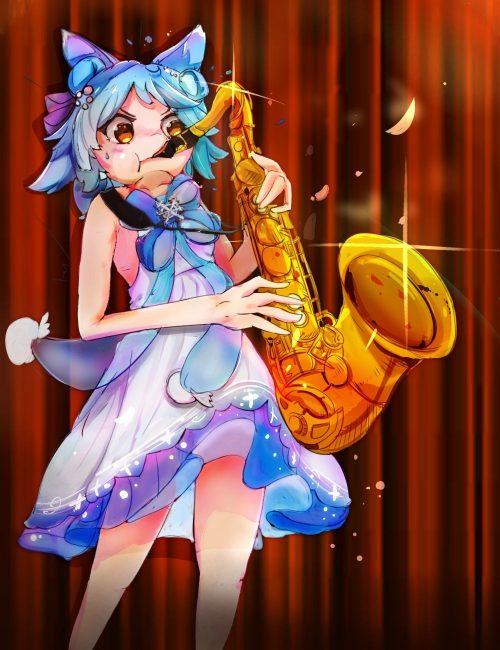 二次 エロ 萌え アズールレーン アズレン 擬人化 ゲーム 吹雪 獣耳 制服 巫女服 二次非エロ画像