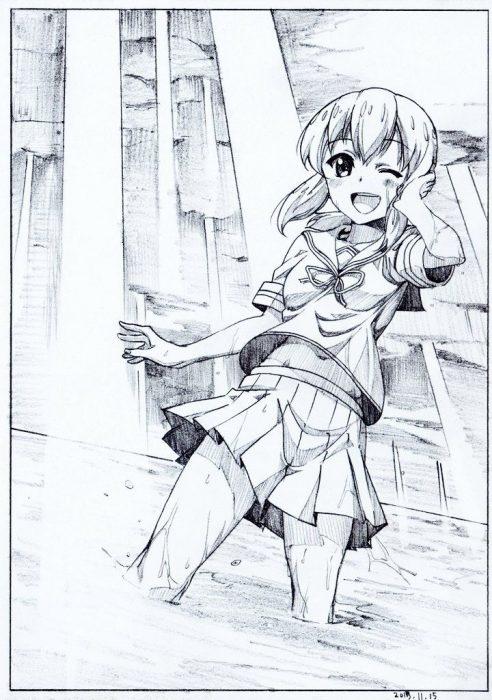 二次 エロ 萌え ゲーム 艦隊これくしょん 擬人化 艦娘 艦これ 吹雪 セーラー服 黒髪 パンツ パンチラ パンツ!パンツです! ふぶなんとかさん ショートポニー 芋 空気 主人公(笑) 二次エロ画像