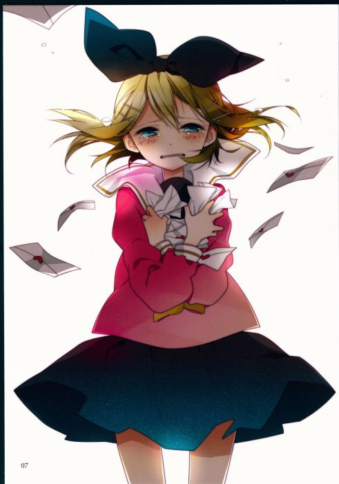 二次 エロ ゲーム ボーカロイド 鏡音リン 金髪碧眼 ロリ セーラー服 リボン ショートカット・短髪 短パン・ショートパンツ・ホットパンツ 二次エロ画像