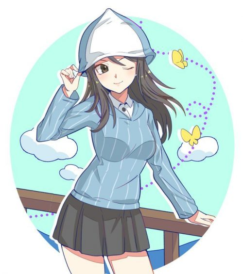 二次 エロ 萌え アニメ フェチ ガールズ&パンツァー ガルパン 戦車 女子高校生 ミカ 巨乳 継続高校 帽子 カンテレ すげえよミカは スナフキン ジャージ 二次エロ画像