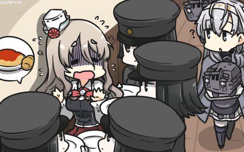 二次 エロ 萌え ゲーム 艦隊これくしょん 艦これ 擬人化 ポーラ POLA ゆるふわパーマ パーマ・ウェーブ 重巡洋艦娘 スカーフタイ 帽子 肩 ワキ 酒 ニーソ 酒飲み・脱ぎ上戸 アッシュブラウン 太眉 二次エロ画像