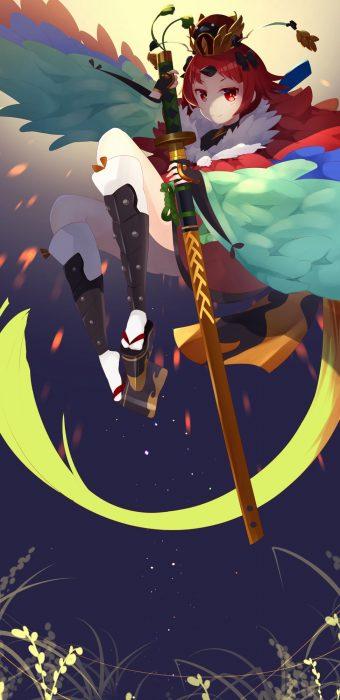 二次 萌え 非エロ Fate Grand Order アニメ ゲーム 紅閻魔 舌切り雀 赤髪 一つ結び(一本結び) ロリおかん 若女将 紅先生 でち 二次非エロ画像