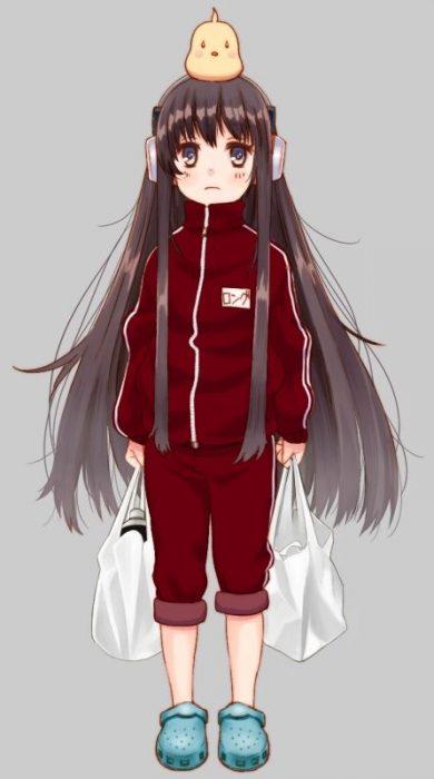 二次 エロ 萌え アズールレーン 擬人化 ゲーム アズレン ロング・アイランド ヘッドホン スカートはいてない Tシャツ ネクタイ 幽霊さん 長島 黒髪 ノーパン 二次非エロ画像